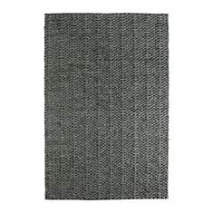 Tapis fait main laine et viscose graphit