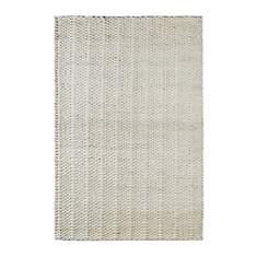 Tapis fait main laine et viscose ivoire
