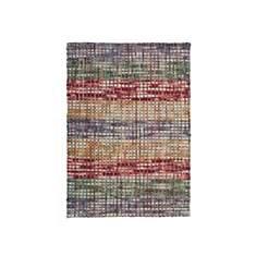 Tapis en laine feutrée multicolore Mello
