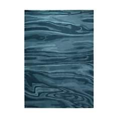 Tapis bleu moderne Deep Water Esprit Hom
