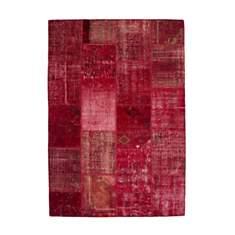 Tapis en laine et noué main rouge Humma