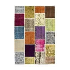 Tapis en laine et noué main multicolore
