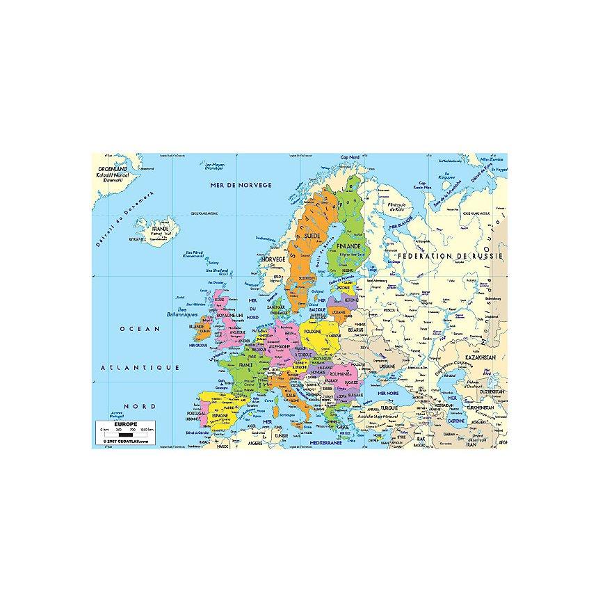 Carte De Leurope Jeux Educatifs.Carte De L Europe