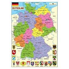 Puzzle carte d'Allemagne