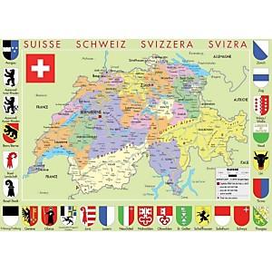 Puzzle carte de Suisse