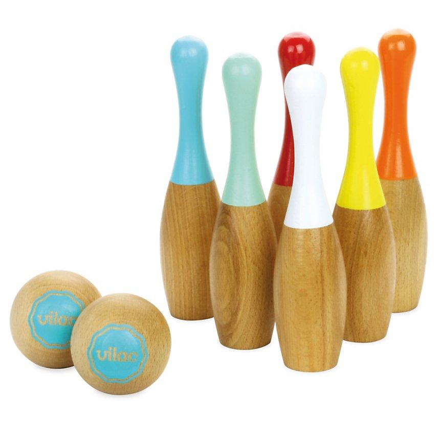 Jeu de quilles bowling bicolores