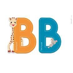 Lettre B Sophie la Girafe