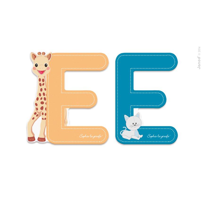 Lettre E Sophie la Girafe