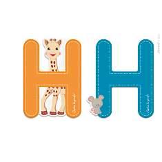 Lettre H Sophie la Girafe