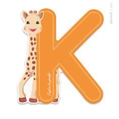 Lettre K Sophie la Girafe