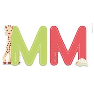 Lettre M Sophie la Girafe