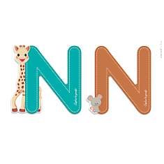 Lettre N Sophie la Girafe