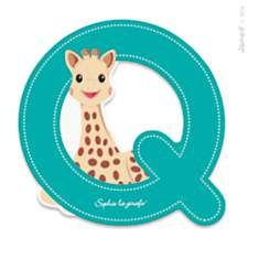Lettre Q Sophie la Girafe