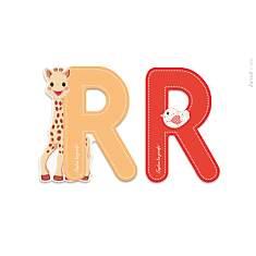Lettre R Sophie la Girafe