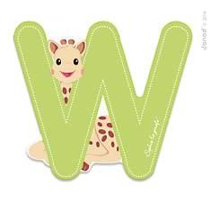 Lettre W Sophie la Girafe