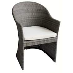 Lot de 2 fauteuils en résine tressée Vul