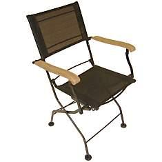 Lot de 2 fauteuils pliants en fer forgé