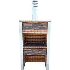 Barbecue en brique et inox