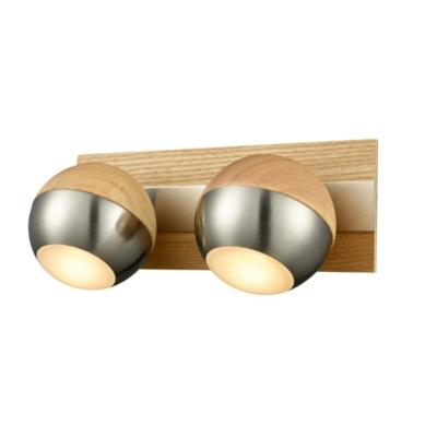 Spot Verus en bois et chrome 22 x 8 x 12 cm