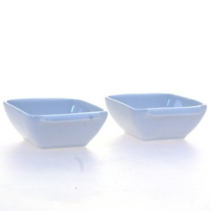 Lot de 2 coupelles carrées en porcelaine