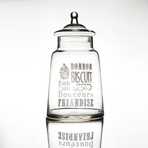 Bonbonnière Biscuit en verre modèle 2