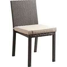 Chaise de jardin en rotin synthétique et
