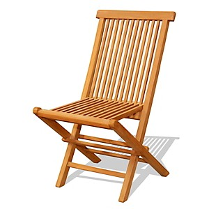 Lot de 2 chaises en teck brut