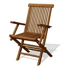 Lot de 2 fauteuils en teck brut