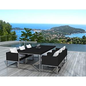 Salon de jardin composé d'1 table et 6 f