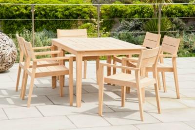 Ensemble table et 6 fauteuils Tivoli en roble FSC
