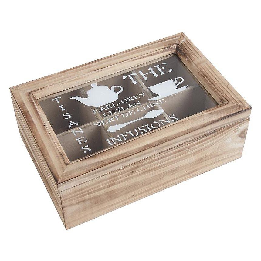 Boîte de thé en bois