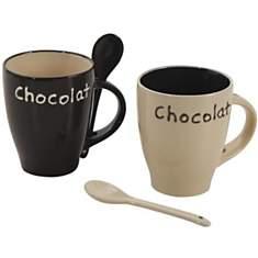 Lot de 2 mugs à chocolat en grès
