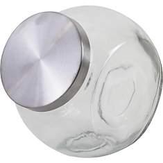 Bonbonnière en verre et métal