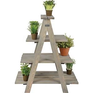 Etagère à plantes triangulaire en pin