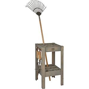 Range outils en pin et métal