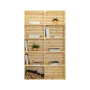 Bibliothèque bois modulable et évolutive 10 niches