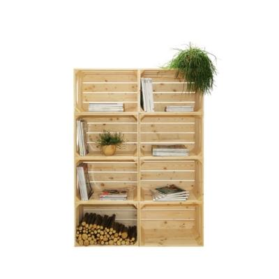 Bibliothèque bois modulable et évolutive 8 niches