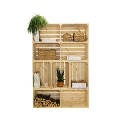 Bibliothèque bois modulable et évolutive 9 niches