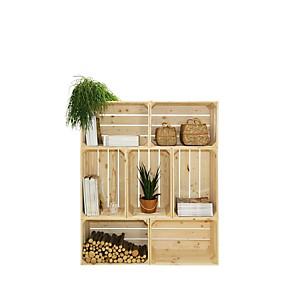 Bibliothèque en bois modulable et évolutive 7 niches
