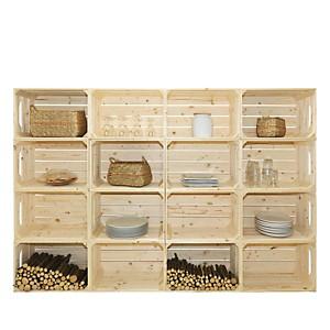 Bibliothèque en bois simple et pratique 16 niches