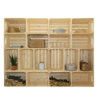 Bibliothèque en bois simple et pratique 18 niches