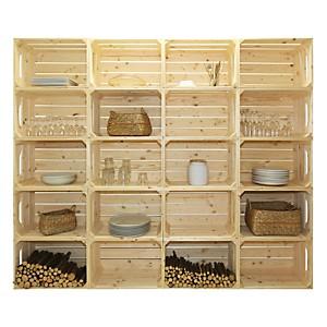 Bibliothèque en bois simple et pratique 20 niches
