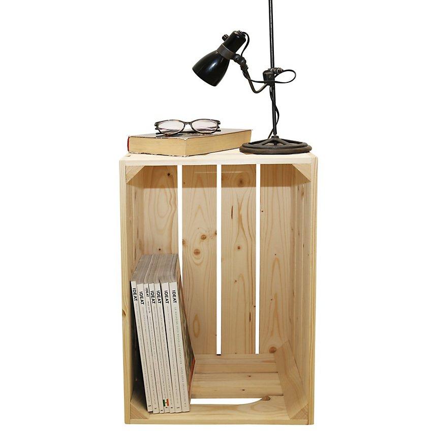 Table De Chevet Bois Brut Brosse Personnalisable