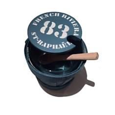 Pot à sel avec sa cuillère en bois Frenc