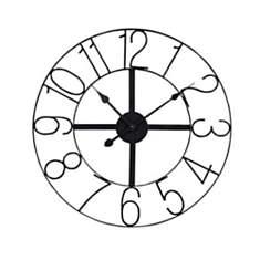 Horloge en métal noir