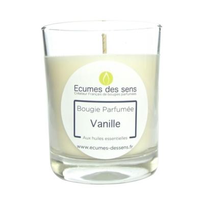 Bougie parfumée à la vanille aux huiles essentielles