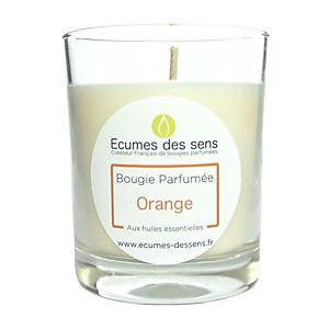 Bougie parfumée à l'orange aux huiles e