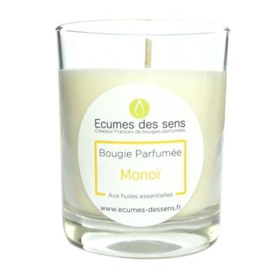 Bougie parfumée au monoï aux huiles essentielles