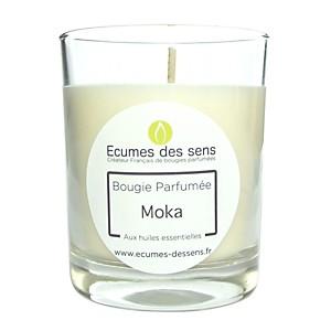 Bougie parfumée au moka aux huiles essen