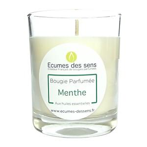 Bougie parfumée à la menthe aux huiles